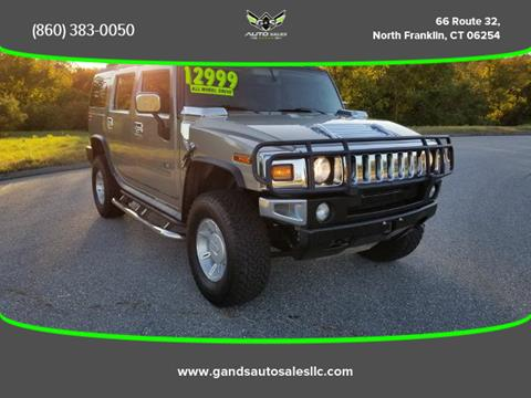 2003 HUMMER H2 for sale in North Franklin CT
