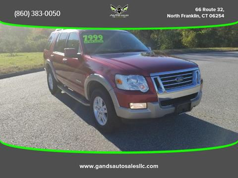2008 Ford Explorer for sale in North Franklin CT