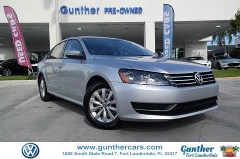 2015 Volkswagen Passat for sale in Fort Lauderdale, FL