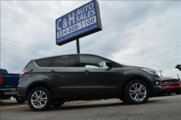 2017 Ford Escape for sale at C & H AUTO SALES in Troy AL
