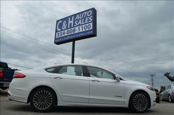 2017 Ford Fusion Hybrid for sale at C & H AUTO SALES in Troy AL
