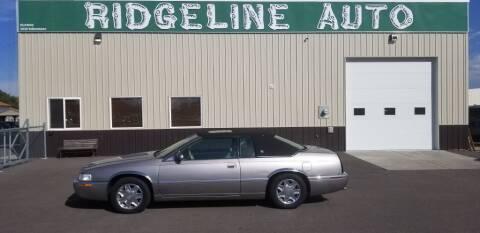 1999 Cadillac Eldorado for sale at RIDGELINE AUTO in Chubbuck ID