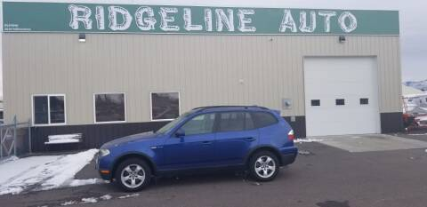 2008 BMW X3 for sale at RIDGELINE AUTO in Chubbuck ID
