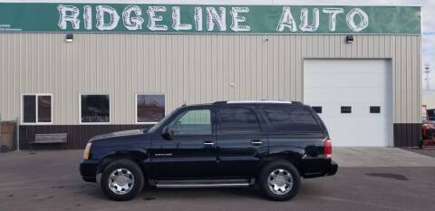 2002 Cadillac Escalade for sale at RIDGELINE AUTO in Chubbuck ID