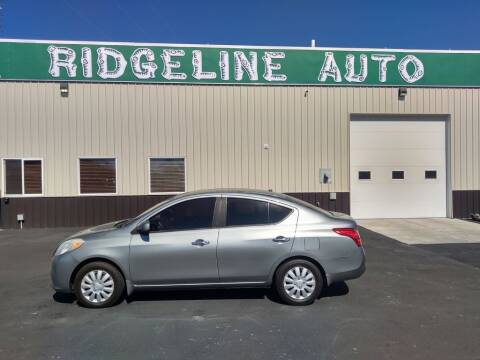 2012 Nissan Versa for sale at RIDGELINE AUTO in Chubbuck ID