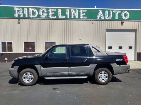 2002 Chevrolet Avalanche for sale at RIDGELINE AUTO in Chubbuck ID