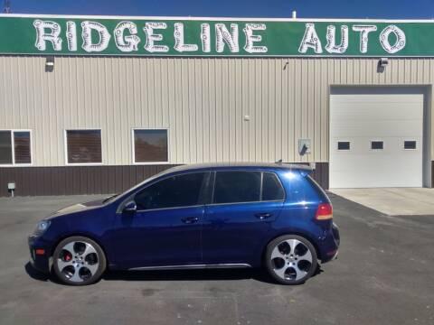 2012 Volkswagen GTI for sale at RIDGELINE AUTO in Chubbuck ID