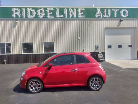 2013 FIAT 500 for sale at RIDGELINE AUTO in Chubbuck ID