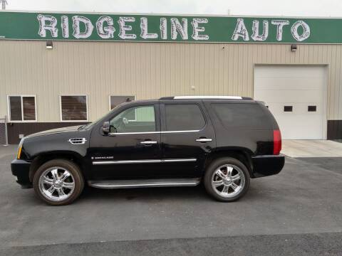 2007 Cadillac Escalade for sale at RIDGELINE AUTO in Chubbuck ID