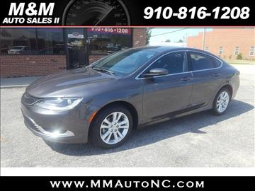 2015 Chrysler 200 for sale at M and M Auto Sales II in Lumberton NC