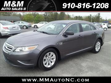 2012 Ford Taurus for sale at M and M Auto Sales II in Lumberton NC