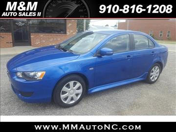 2015 Mitsubishi Lancer for sale at M and M Auto Sales II in Lumberton NC