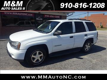 2003 Chevrolet TrailBlazer for sale at M and M Auto Sales II in Lumberton NC