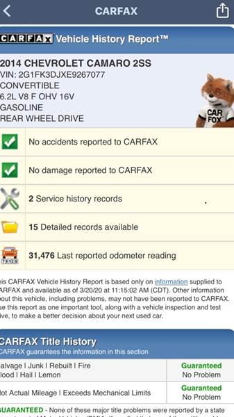 2014 Chevrolet Camaro SS (image 43)