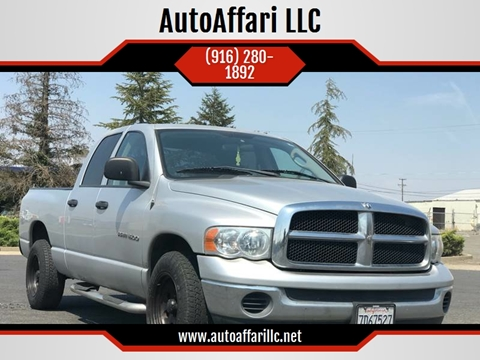 2004 Dodge Ram Pickup 1500 for sale at AutoAffari LLC in Sacramento CA