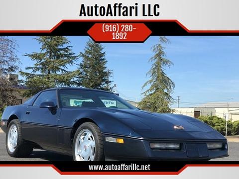1989 Chevrolet Corvette for sale at AutoAffari LLC in Sacramento CA