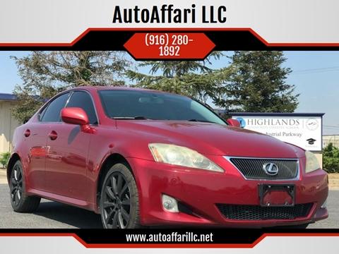 2006 Lexus IS 250 for sale at AutoAffari LLC in Sacramento CA
