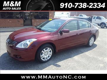 2012 Nissan Altima for sale at M and M Auto Sales in Lumberton NC