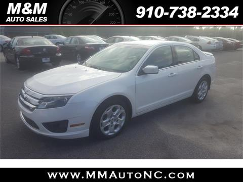 2010 Ford Fusion for sale at M and M Auto Sales in Lumberton NC