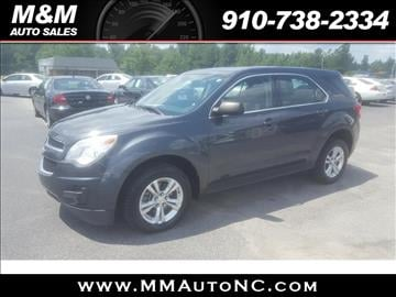 2011 Chevrolet Equinox for sale at M and M Auto Sales in Lumberton NC