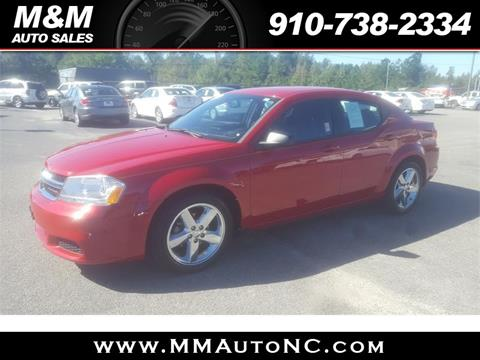 2013 Dodge Avenger for sale at M and M Auto Sales in Lumberton NC