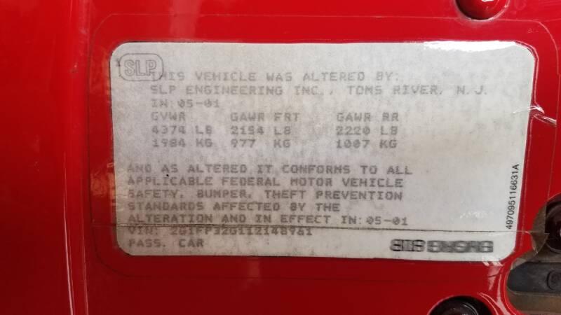 2001 Chevrolet Camaro Z28 2dr Convertible - El Paso IL