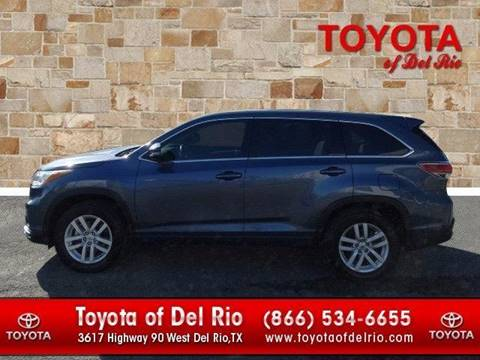2015 Toyota Highlander for sale in Eagle Pass TX