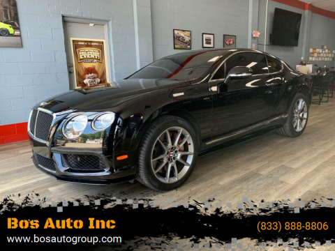 2015 Bentley Continental for sale at Bos Auto Inc-Boston in Jamaica Plain MA