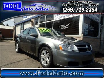 2012 Dodge Avenger for sale at Fadel Auto Sales in Battle Creek MI