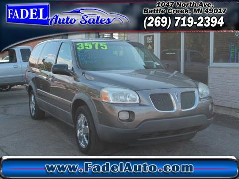 2005 Pontiac Montana SV6 for sale at Fadel Auto Sales in Battle Creek MI