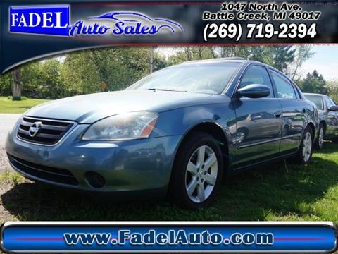 2002 Nissan Altima for sale at Fadel Auto Sales in Battle Creek MI