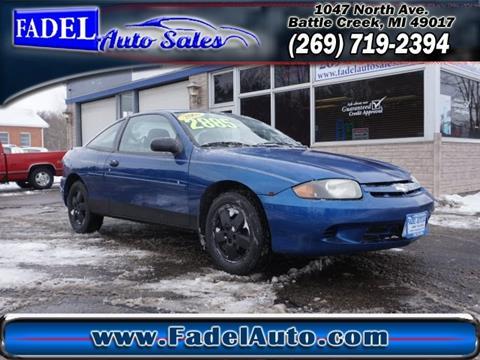 2003 Chevrolet Cavalier for sale at Fadel Auto Sales in Battle Creek MI