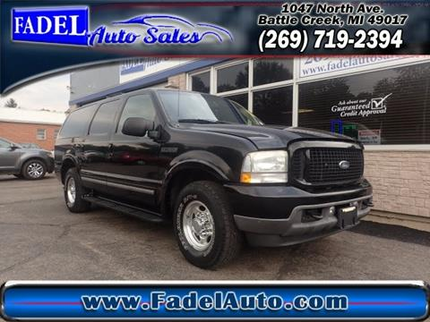 2001 Ford Excursion for sale at Fadel Auto Sales in Battle Creek MI