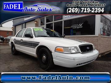 2009 Ford Crown Victoria for sale at Fadel Auto Sales in Battle Creek MI