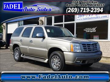 2002 Cadillac Escalade for sale at Fadel Auto Sales in Battle Creek MI
