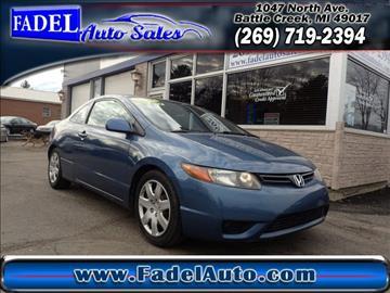 2007 Honda Civic for sale at Fadel Auto Sales in Battle Creek MI