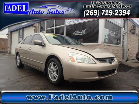 2003 Honda Accord for sale at Fadel Auto Sales in Battle Creek MI