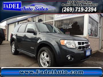 2008 Ford Escape for sale at Fadel Auto Sales in Battle Creek MI