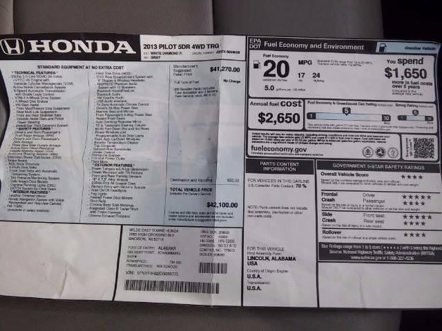 2013 Honda Pilot for sale at COMPTON MOTORS LLC in Sturtevant WI