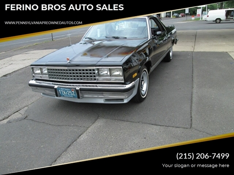 1985 Chevrolet El Camino for sale in Wrightstown, PA