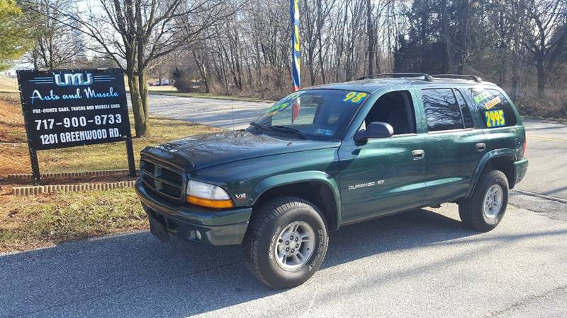 1998 Dodge Durango for sale at LMJ AUTO AND MUSCLE in York PA