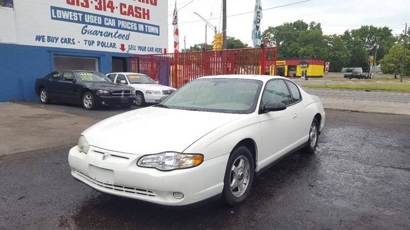 2005 Chevrolet Monte Carlo For Sale At Detroit Cash For Cars In Detroit MI