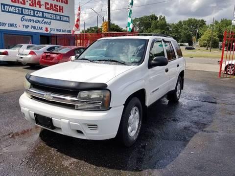 2002 Chevrolet TrailBlazer for sale in Detroit, MI