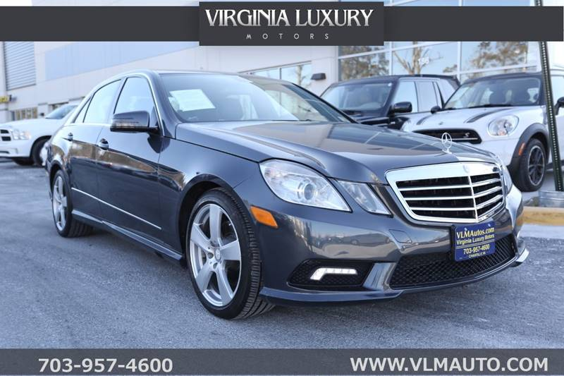 2011 Mercedes Benz E Class For Sale At Virginia Luxury Motors In Chantilly  VA