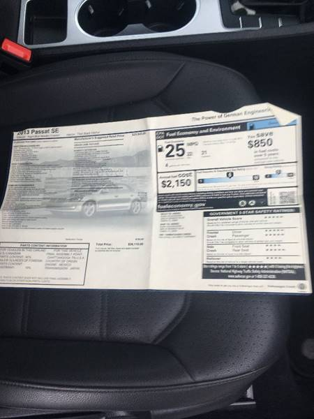 2013 Volkswagen Passat SE 4dr Sedan 6A - Belfast ME