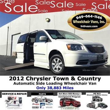 2012 Chrysler Town and Country for sale at Wheelchair Vans Inc - New and Used in Laguna Hills CA