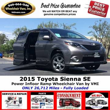 2015 Toyota Sienna for sale at Wheelchair Vans Inc - New and Used in Laguna Hills CA