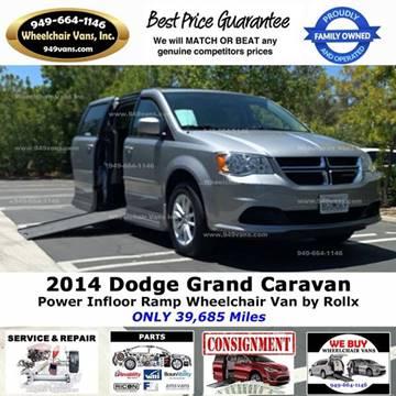 2014 Dodge Grand Caravan SXT for sale at Wheelchair Vans Inc - New and Used in Laguna Hills CA