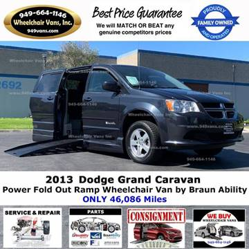 2013 Dodge Grand Caravan for sale at Wheelchair Vans Inc - New and Used in Laguna Hills CA