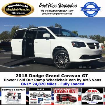 2018 Dodge Grand Caravan for sale at Wheelchair Vans Inc - New and Used in Laguna Hills CA